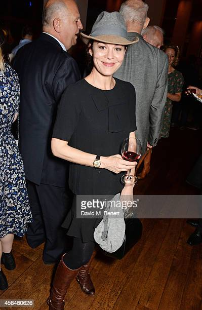 Helen McCrory attends an after party following the press night performance of 'Electra' playing at The Old Vic at Skylon Grill on October 1 2014 in...