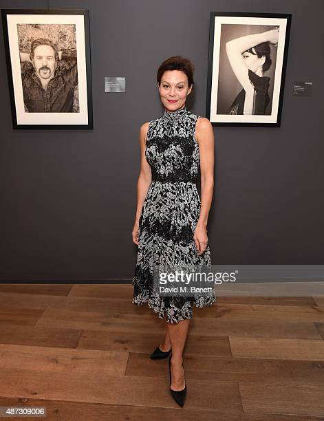 Helen McCrory attends at private view of the Iconic Print Collaboration at Alon Zakaim Fine Art on September 8 2015 in London England