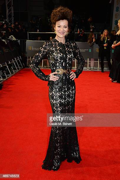 Helen McCrory attends the EE British Academy Film Awards 2014 at The Royal Opera House on February 16 2014 in London England