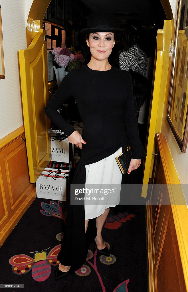 <a gi-track='captionPersonalityLinkClicked' href=/galleries/search?phrase=Helen+McCrory&family=editorial&specificpeople=214616 ng-click='$event.stopPropagation()'>Helen McCrory</a> attends the Harper's Bazaar London Fashion Week SS14 closing party at Annabel's on September 17, 2013 in London, England.