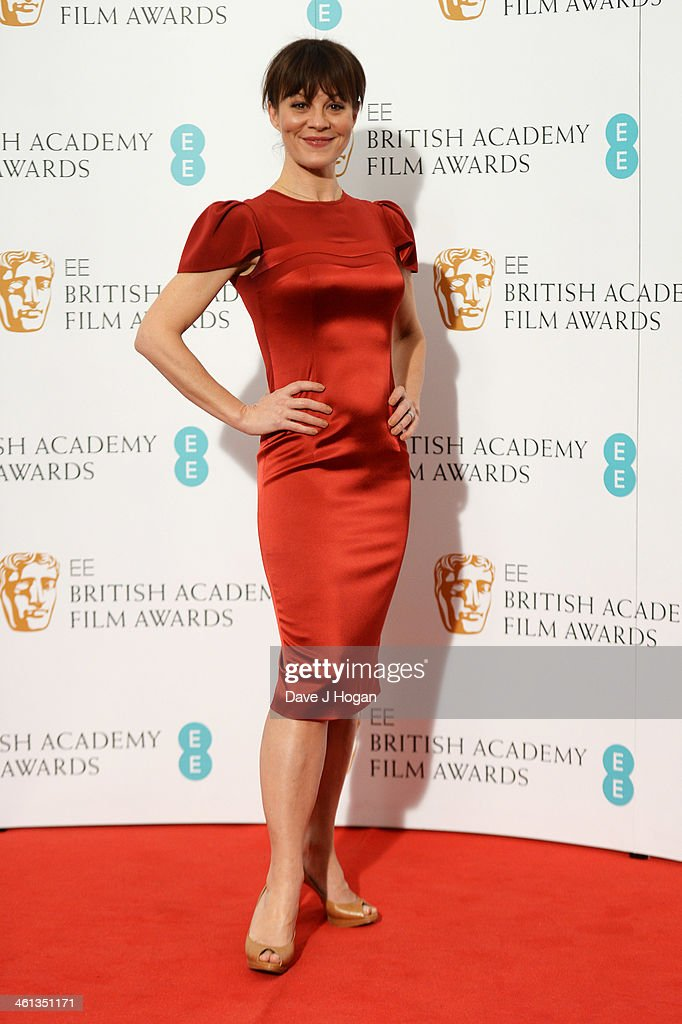 <a gi-track='captionPersonalityLinkClicked' href=/galleries/search?phrase=Helen+McCrory&family=editorial&specificpeople=214616 ng-click='$event.stopPropagation()'>Helen McCrory</a> attends the nominations photocall for the EE British Academy Film Awards at BAFTA on January 8, 2014 in London, England.