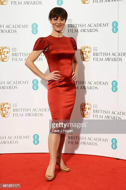 Helen McCrory attends the nominations photocall for the EE British Academy Film Awards at BAFTA on January 8 2014 in London England