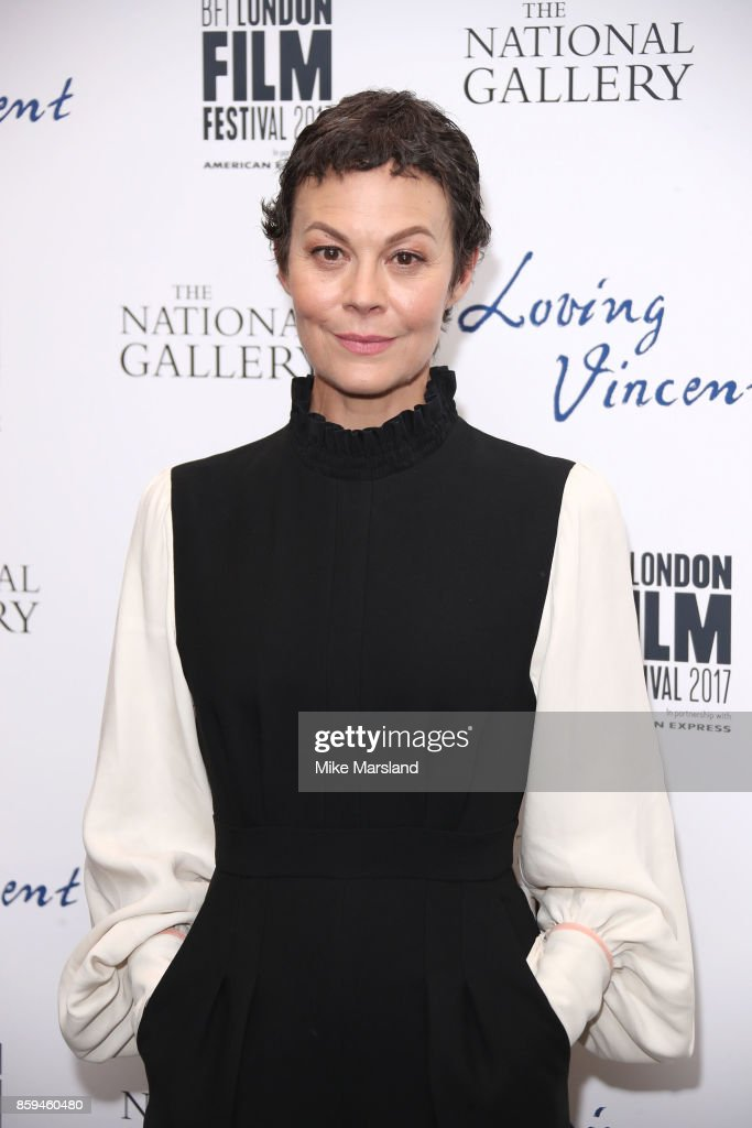 Helen McCrory attends the UK Premiere of 'Loving Vincent' during the 61st BFI London Film Festival on October 9, 2017 in London, England.