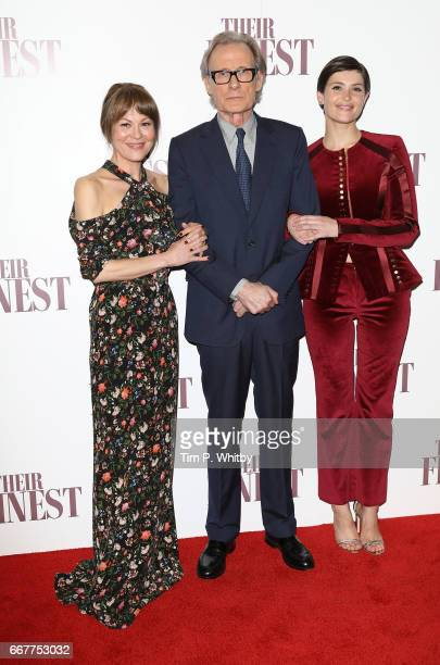 Helen McCrory Bill Nighy and Gemma Arterton attend a special presentation screening of 'Their Finest' at BFI Southbank on April 12 2017 in London...