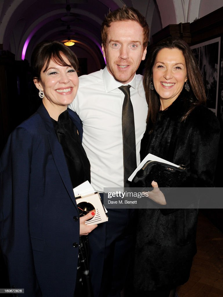 Helen McCrory, Damian Lewis and Barbara Broccoli attend the London Evening Standard British Film Awards supported by Moet & Chandon and Chopard at the London Film Museum on February 4, 2013 in London, England.