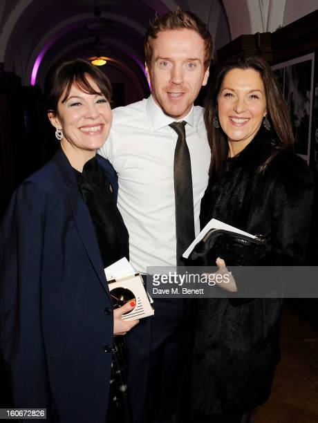 Helen McCrory Damian Lewis and Barbara Broccoli attend the London Evening Standard British Film Awards supported by Moet Chandon and Chopard at the...