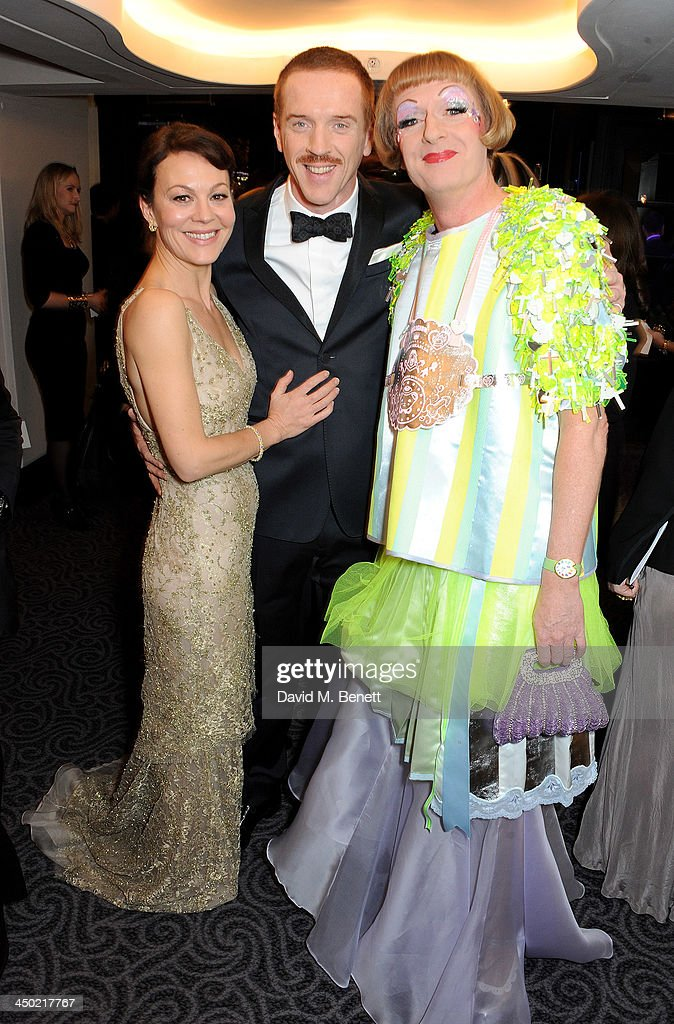 Helen McCrory Damian Lewis and Grayson Perry attend a drinks reception at the 59th London Evening Standard Theatre Awards at The Savoy Hotel on...