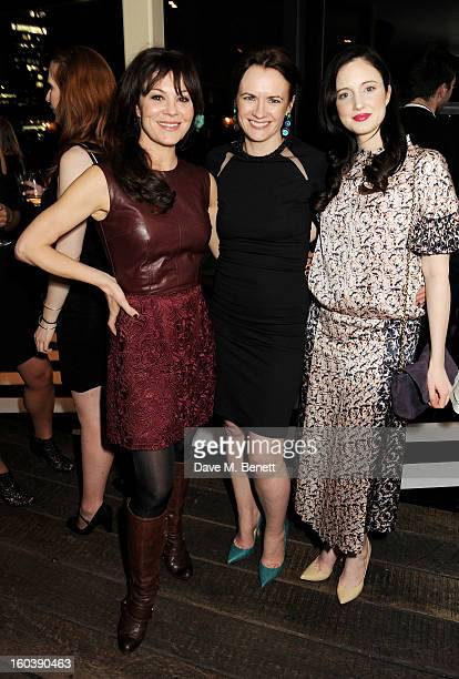 Helen McCrory InStyle editor Eilidh Macaskill and Andrea Riseborough attend the InStyle Best Of British Talent party in association with Lancome and...