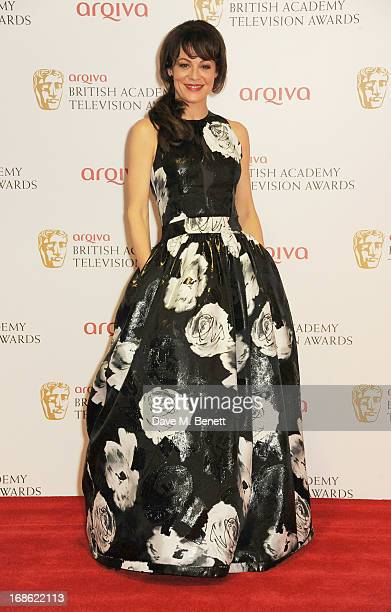 Helen McCrory poses in the press room at the Arqiva British Academy Television Awards 2013 at the Royal Festival Hall on May 12 2013 in London England