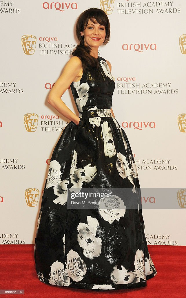 Helen McCrory poses in the press room at the Arqiva British Academy Television Awards 2013 at the Royal Festival Hall on May 12, 2013 in London, England.