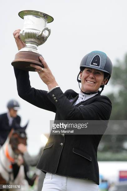 Helen McNaught riding LT Holst Aunty Annette wins the Silver Fern Stakes during 2017 Horse of the Year on March 10 2017 in Hastings New Zealand