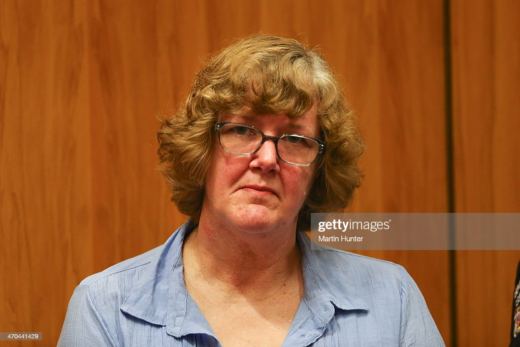 Helen Milner sits in court on February 20, 2014 in Christchurch, New Zealand. In 2013, Helen Milner was found guilty of the murder and attempted murder of her husband, Philip Nisbet, who was found dead in their Halswell home on May 4, 2009. (Photo by Martin Hunter/Getty Images) POOL USE