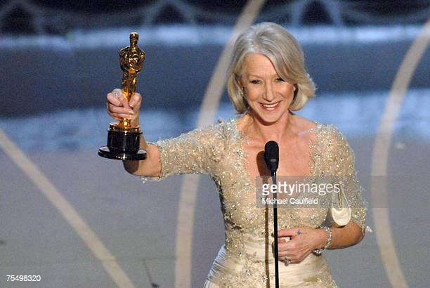 Helen Mirren accepts Best Actress in a Leading Role award for The Queen at the Kodak Theatre in Los Angeles California