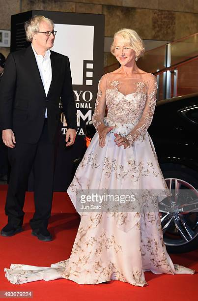 Helen Mirren and director Simon Curtis arrive at the opening ceremony of the Tokyo International Film Festival 2015 at Roppongi Hills on October 22...
