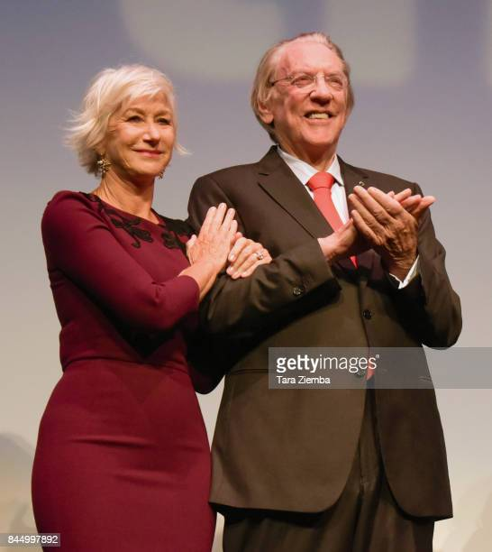 Helen Mirren and Donald Sutherland attend 'The Leisure Seeker' premiere during the 2017 Toronto International Film Festival at Roy Thomson Hall on...