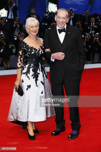 Helen Mirren and Donald Sutherland walk the red carpet ahead of the 'The Leisure Seeker ' screening during the 74th Venice Film Festival at Sala...