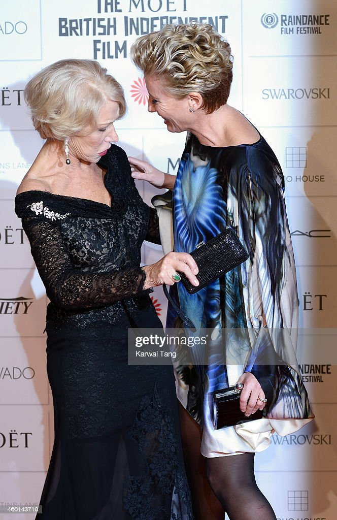 Helen Mirren and Emma Thompson attends the Moet British Independent Film Awards at Old Billingsgate Market on December 7, 2014 in London, England.