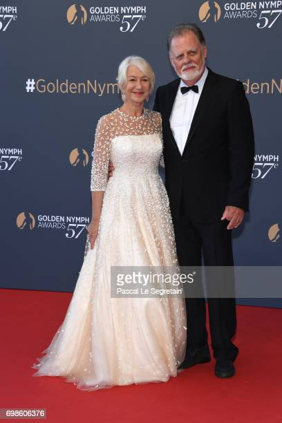 Helen Mirren and husband Taylor Hackford attend the Closing ceremony of the 57th Monte Carlo TV Festival on June 20 2017 in MonteCarlo Monaco