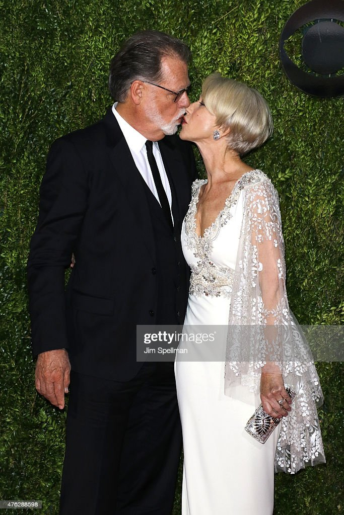 Helen Mirren and Taylor Hackford attend the American Theatre Wing's 69th Annual Tony Awards at Radio City Music Hall on June 7 2015 in New York City
