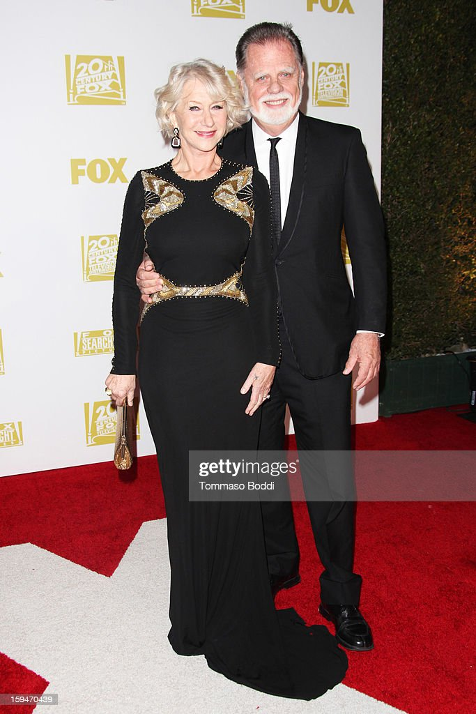 Helen Mirren (L) and Taylor Hackford attend the FOX Golden Globe after party held at the FOX Pavilion at the Golden Globes on January 13, 2013 in Beverly Hills, California.