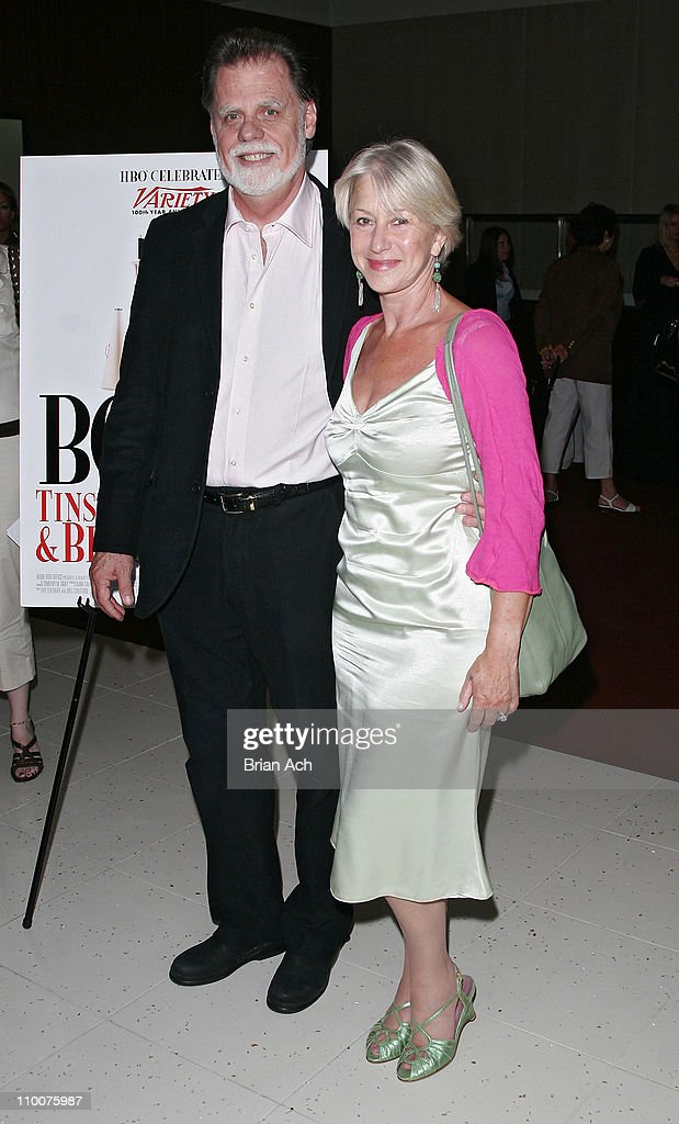Helen Mirren and Taylor Hackford during 'Boffo' The Premiere of HBO Documentary Films in New York June 12 2006 at The Time Warner Theatre in New York...
