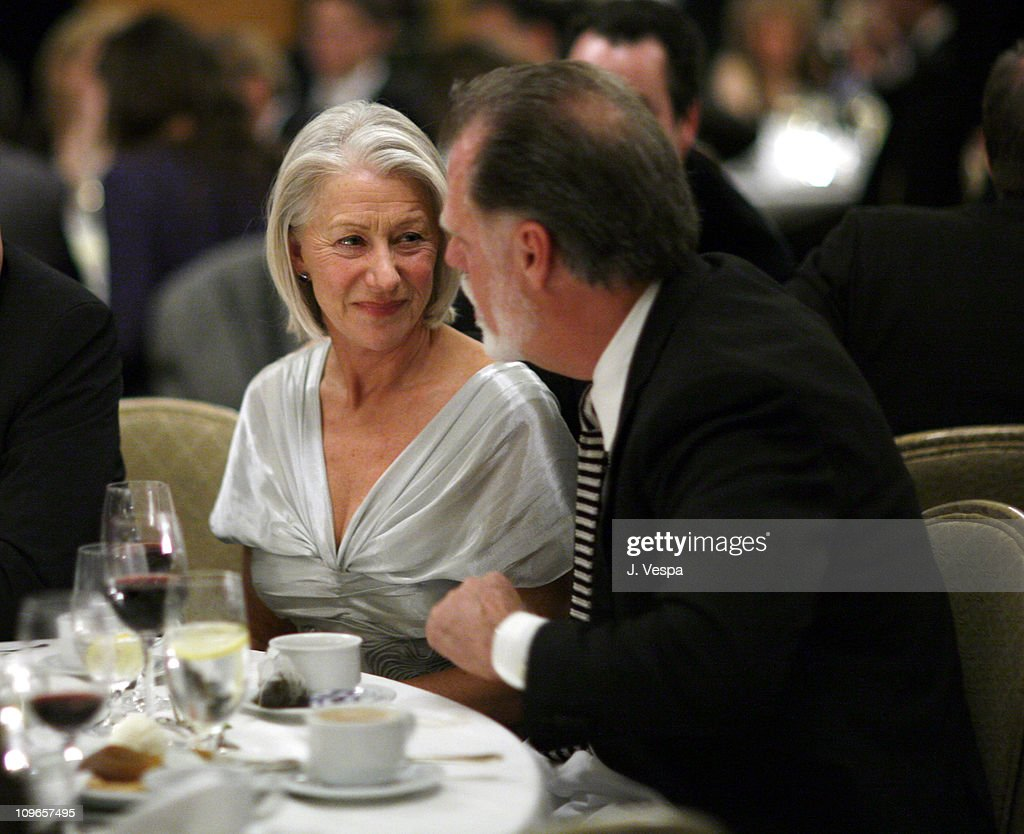 Helen Mirren and Taylor Hackford during The 32nd Annual Los Angeles Film Critics Association Awards Inside in Los Angeles CA United States