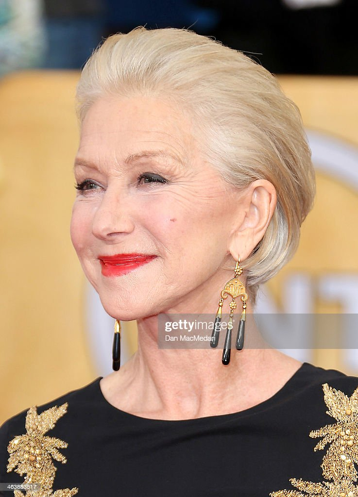 Helen Mirren arrives at the 20th Annual Screen Actors Guild Awards at the Shrine Auditorium on January 18, 2014 in Los Angeles, California.