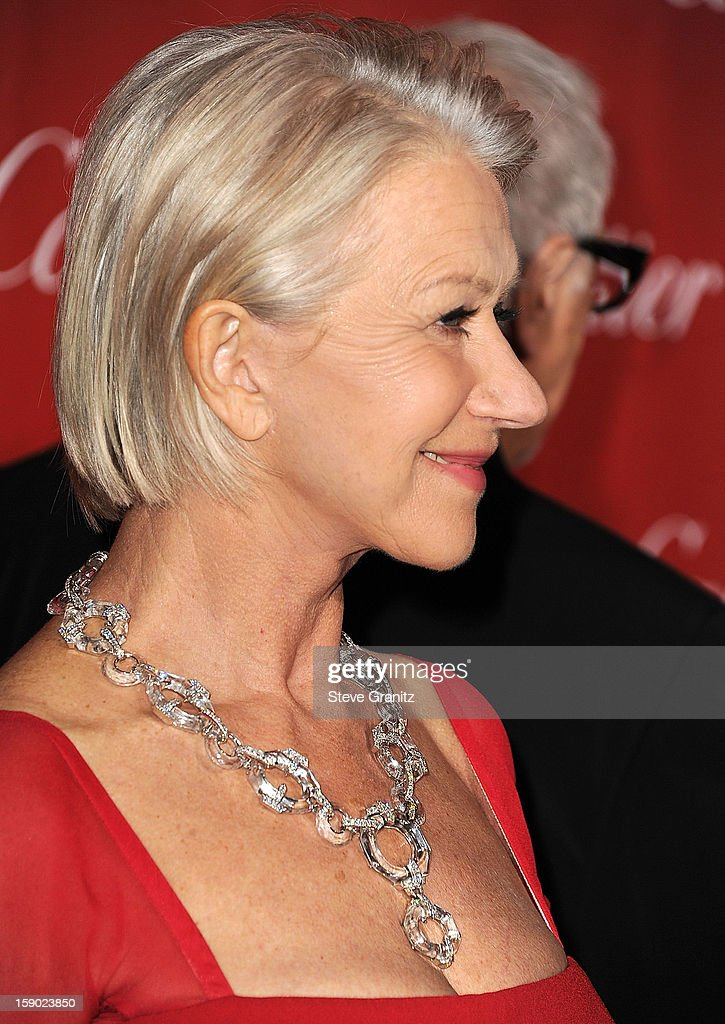 Helen Mirren arrives at the 24th Annual Palm Springs International Film Festival at Palm Springs Convention Center on January 5, 2013 in Palm Springs, California.