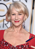 Helen Mirren arrives at the 72nd Annual Golden Globe Awards at The Beverly Hilton Hotel on January 11 2015 in Beverly Hills California