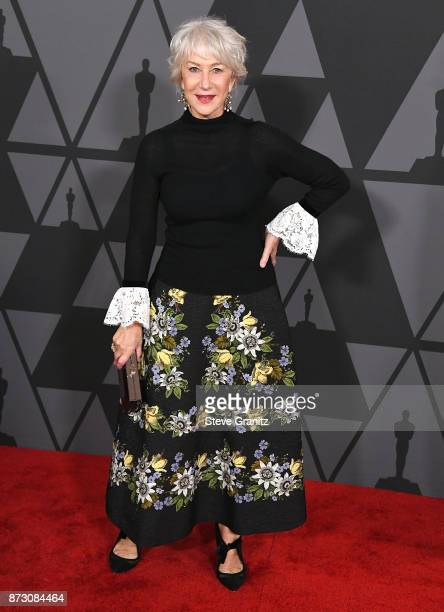 Helen Mirren arrives at the Academy Of Motion Picture Arts And Sciences' 9th Annual Governors Awards at The Ray Dolby Ballroom at Hollywood Highland...