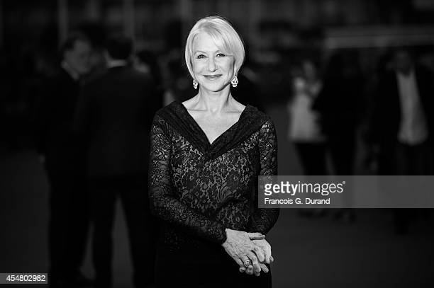 Helen Mirren arrives at the 'Hundred Foot Journey' premiere during the 40th Deauville American Film Festival on September 6 2014 in Deauville France