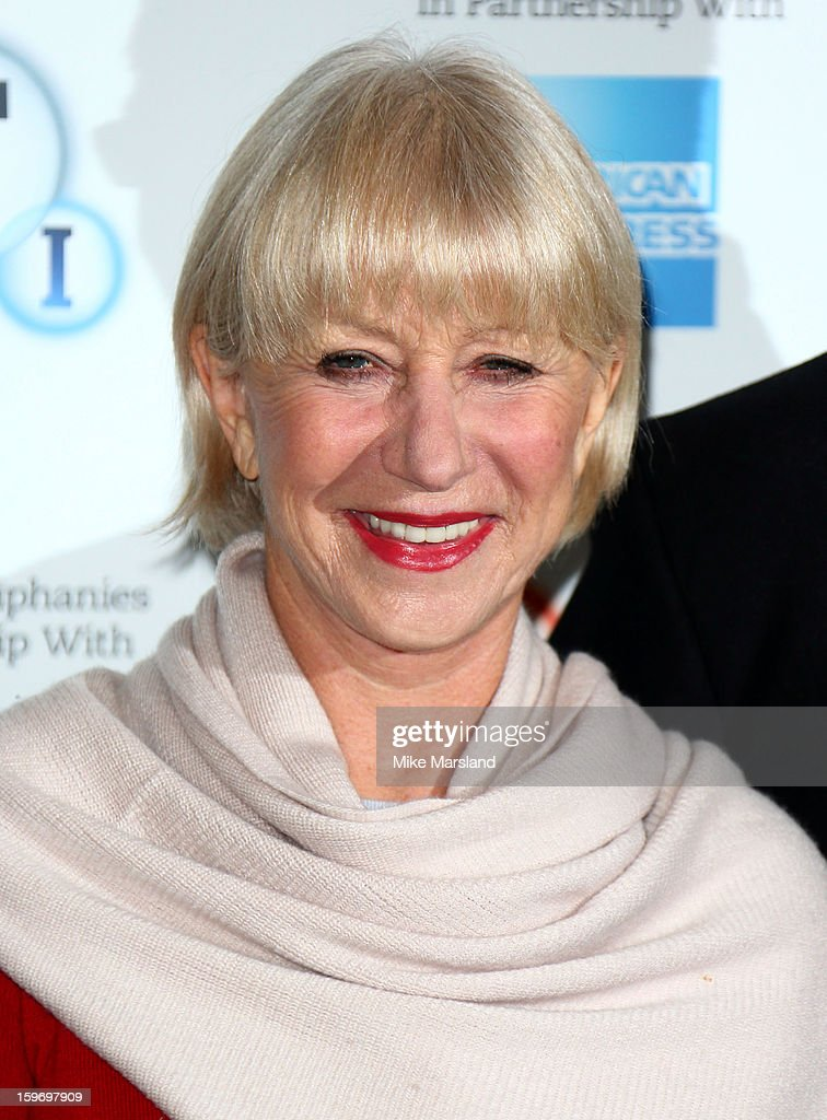 Helen Mirren attends a photocall as part of the BFI Epiphanies series, to introduce a screening of the film that inspired her - 'L'Atlante' at BFI Southbank on January 18, 2013 in London, England.
