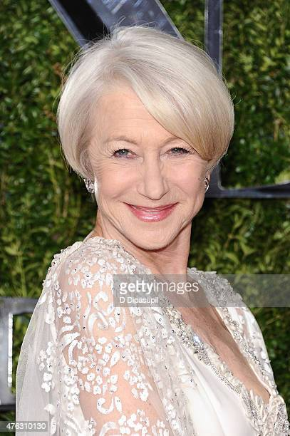 Helen Mirren attends American Theatre Wing's 69th Annual Tony Awards at Radio City Music Hall on June 7 2015 in New York City