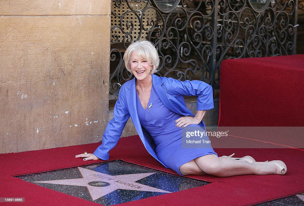<a gi-track='captionPersonalityLinkClicked' href=/galleries/search?phrase=Helen+Mirren&family=editorial&specificpeople=201576 ng-click='$event.stopPropagation()'>Helen Mirren</a> attends at the ceremony honoring her with a Star on The Hollywood Walk of Fame held on January 3, 2013 in Hollywood, California.
