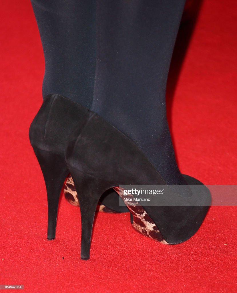 Helen Mirren (shoe detail) attends the 18th Jameson Empire Film Awards at Grosvenor House, on March 24, 2013 in London, England.