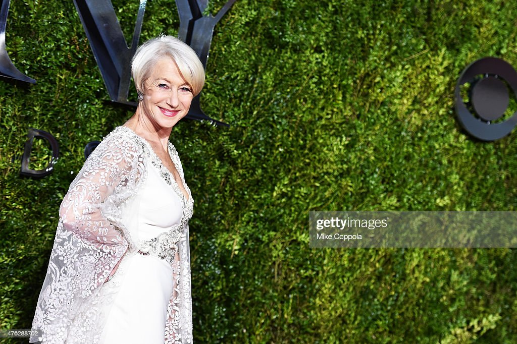 Helen Mirren attends the 2015 Tony Awards at Radio City Music Hall on June 7, 2015 in New York City.