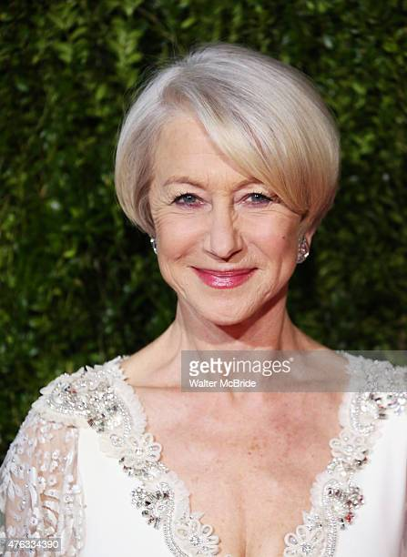 Helen Mirren attends the 2015 Tony Awards at Radio City Music Hall on June 7 2015 in New York City