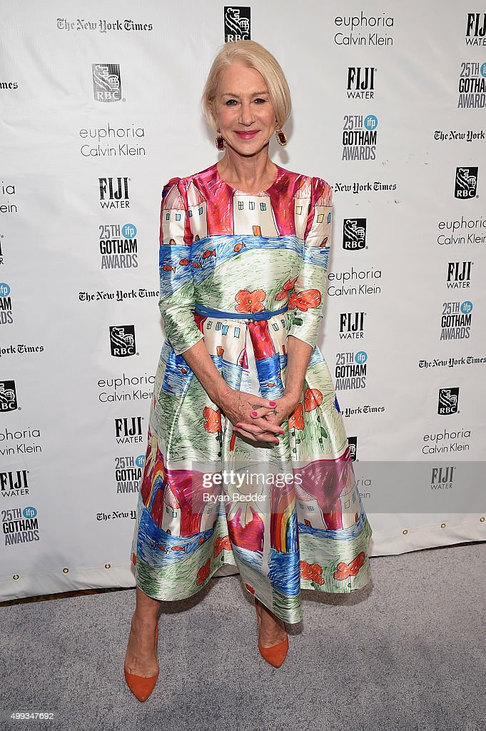 Helen Mirren attends the 25th IFP Gotham Independent Film Awards cosponsored by FIJI Water at Cipriani Wall Street on November 30 2015 in New York...