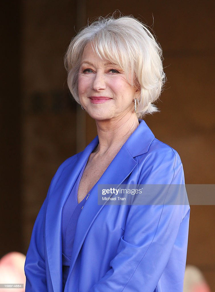 <a gi-track='captionPersonalityLinkClicked' href=/galleries/search?phrase=Helen+Mirren&family=editorial&specificpeople=201576 ng-click='$event.stopPropagation()'>Helen Mirren</a> attends the ceremony honoring her with a Star on The Hollywood Walk of Fame held on January 3, 2013 in Hollywood, California.
