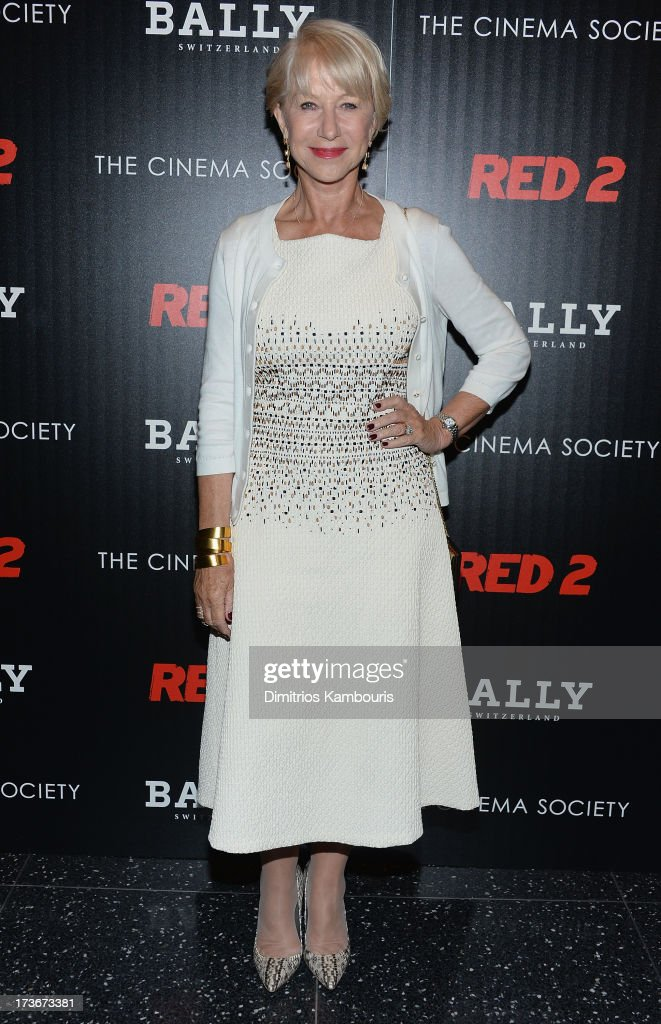 <a gi-track='captionPersonalityLinkClicked' href=/galleries/search?phrase=Helen+Mirren&family=editorial&specificpeople=201576 ng-click='$event.stopPropagation()'>Helen Mirren</a> attends The Cinema Society & Bally screening of Summit Entertainment's 'Red 2' at the Museum of Modern Art on July 16, 2013 in New York City.