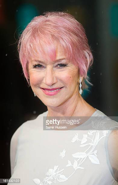 Helen Mirren attends the EE British Academy Film Awards at The Royal Opera House on February 10 2013 in London England