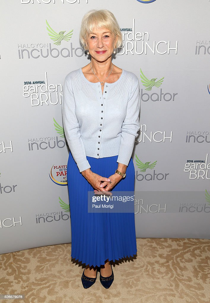 Helen Mirren attends the Garden Brunch prior to the 102nd White House Correspondents' Association Dinner at the Beall-Washington House on April 30, 2016 in Washington, DC.