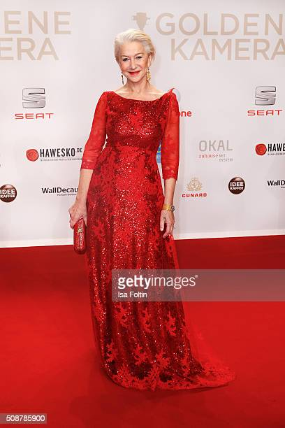 Helen Mirren attends the Goldene Kamera 2016 on February 6 2016 in Hamburg Germany