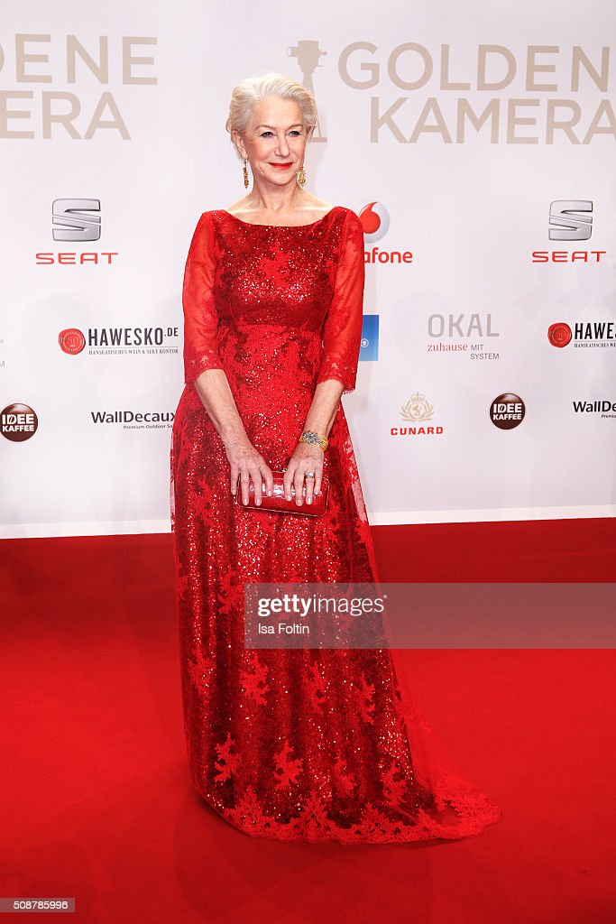 <a gi-track='captionPersonalityLinkClicked' href=/galleries/search?phrase=Helen+Mirren&family=editorial&specificpeople=201576 ng-click='$event.stopPropagation()'>Helen Mirren</a> attends the Goldene Kamera 2016 on February 6, 2016 in Hamburg, Germany.