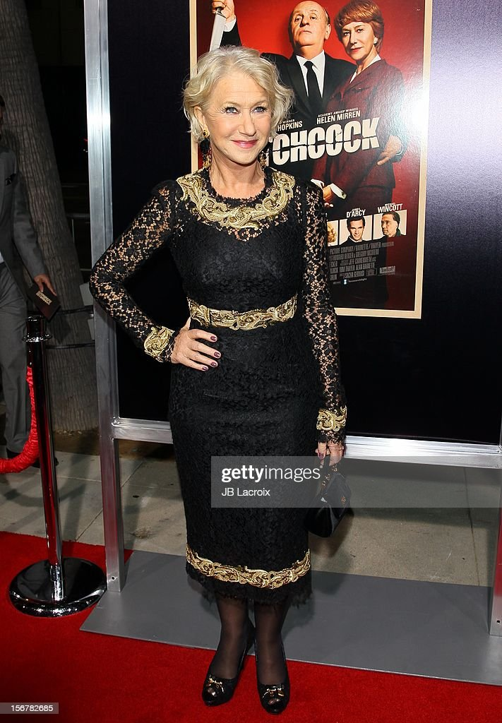 <a gi-track='captionPersonalityLinkClicked' href=/galleries/search?phrase=Helen+Mirren&family=editorial&specificpeople=201576 ng-click='$event.stopPropagation()'>Helen Mirren</a> attends the 'Hitchcock' - Los Angeles Premiere at the Academy of Motion Picture Arts and Sciences on November 20, 2012 in Beverly Hills, California.