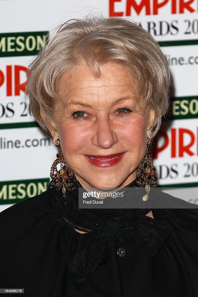 Helen Mirren attends the Jameson Empire Film Awards at The Grosvenor House Hotel on March 24, 2013 in London, England.