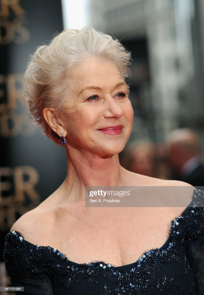 Helen Mirren attends The Laurence Olivier Awards at the Royal Opera House on April 28, 2013 in London, England.