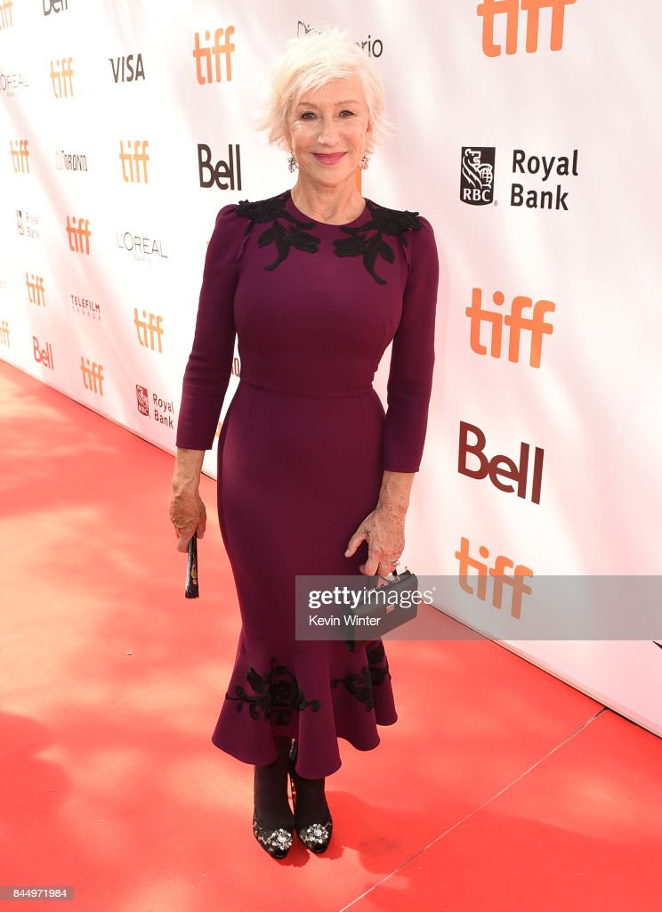 Helen Mirren attends 'The Leisure Seeker' premiere during the 2017 Toronto International Film Festival at Roy Thomson Hall on September 9, 2017 in Toronto, Canada.