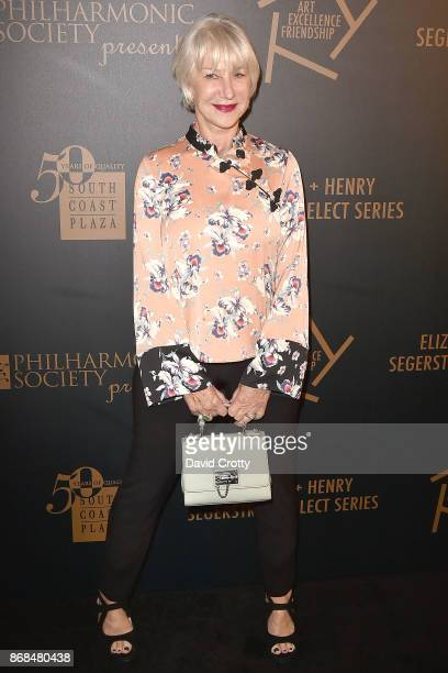 Helen Mirren attends the Mariinsky Orchestra Concert in honor of Henry Segerstrom and the 50th anniversary of South Coast Plaza on October 30 2017 in...