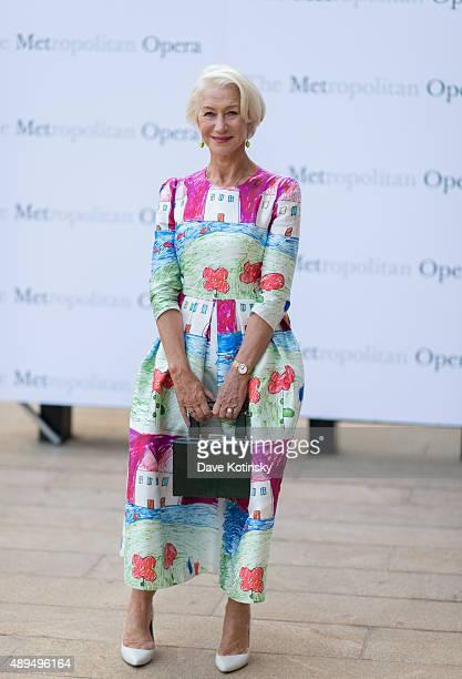 Helen Mirren attends the Metropolitan Opera 20152016 season opening night of 'Otello' at The Metropolitan Opera House on September 21 2015 in New...